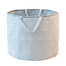 grey laundry hamper grey gingham toy storage basket by kiddiewinkles