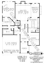 Traditional Floor Plan Cambridge Manor A House Plan House Plans By Garrell Associates Inc