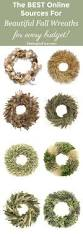 Best Online Home Decor by The Best Online Sources For Fall Wreaths Setting For Four