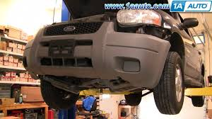 How To Install Replace Front Bumper Cover Ford Escape 01 07 1aauto