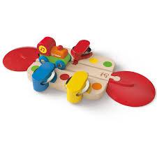 Make Wooden Toy Train Track by Tambourine Tune Track E3812 Hape Toys