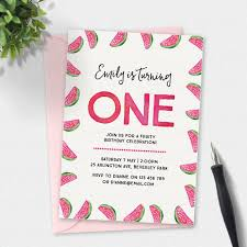colors free watermelon birthday invitations for boy with hd