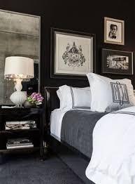 Black Grey And White Bedroom Interiors Interior Design - Black and white bedroom interior design