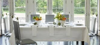 dining room table cloth white lacquer vanity set pioneer linens