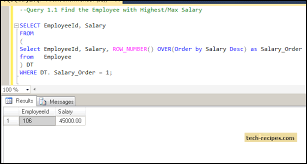 employee table sql queries how to find nth highest second highest salary in sql server
