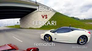 how many types of ferraris are there tesla model s p85d vs 458 italia