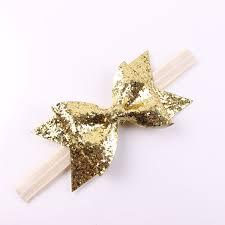 gold headband aliexpress buy gold baby headband glitter bow headband for