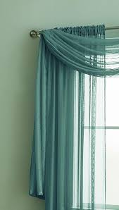 Green And Blue Curtains Warm Home Designs Sea Green Window Scarves Sheer Green Teal