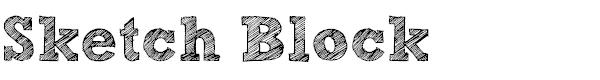 free sketch block light fonts