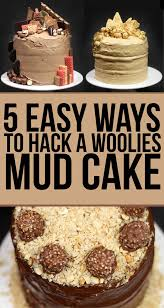 we made woolies mud cakes look fucking fancy mud cake cake and