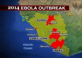 africa map 2014 ebola outbreak in africa africa research