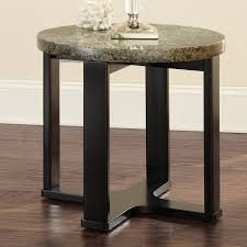 granite top end tables steve silver company gb200e gabriel granite top end table home