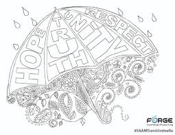 saam trans umbrella coloring page forge