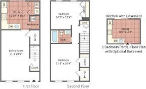 2 bedroom basement floor plans floor plans for spring garden townhouses located in bethlehem pa 18017
