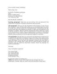 cover letter guidelines format