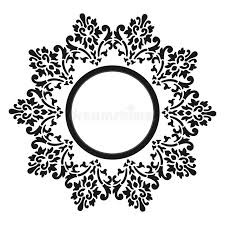 vector vintage border frame with retro ornament pattern in antique