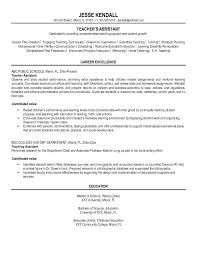 resume template for teachers assistant resume resume template ideas