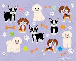 bichon frise cartoon dogs clipart beagle bichon frise boston terrier by gaudydoodle