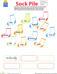 compound word worksheets 2nd grade education com