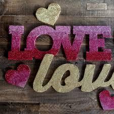 create a glittered valentine u0027s day banner martha stewart