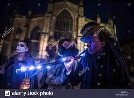 edinburgh uk 1st nov 2016 behind the scenes samhain