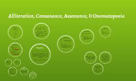 alliteration consonance assonance and onomatopoeia by katie
