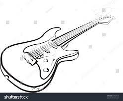 electric guitar sketch stock vector 64829770 shutterstock