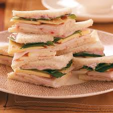apple turkey recipes thanksgiving turkey gouda u0026 apple tea sandwiches recipe taste of home
