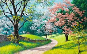 spring painting ideas s spring landscape painting ideas best photos easy watercolor of