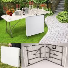 table pliante jardin table pliante d appoint portable pour cing ou réception 180 cm