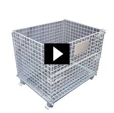 heavy duty industrial warehouse metal wire storage containers