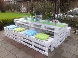 picnic table seat cushions painted pallet picnic style bench seating for back yard the added