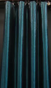 Teal Taffeta Curtains Cj112 1 Panel Turquoise Shiny Iridescent Taffeta Made To