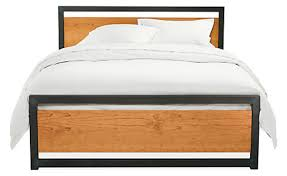 Room And Board Bedroom Furniture Piper Wood Bed In Natural Steel Modern Beds U0026 Platform Beds