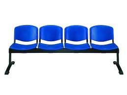 ml100 panca p bench for waiting room with seats in plastic of