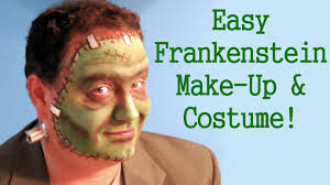 easy frankenstein make up and costume tutorial youtube