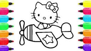 how to draw hello kitty coloring pages for kids drawing for