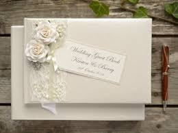wedding guestbook luxury personalised wedding guest book vintage style lace