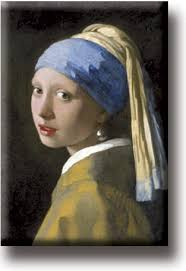 vermeer girl with pearl earring painting fridge magnet johannes vermeer girl with a pearl earring