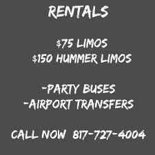 party rentals fort worth fort worth limos 1 in party hummer limousine rentals