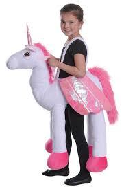 childrens white step in riding unicorn fancy dress kids piggy back