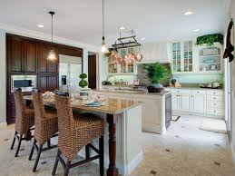 fascinating kitchen decor with wicker rattan chairs and ceiling