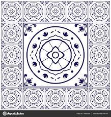 Tile Floor In Spanish by Blue White Tiles Floor Pattern Vector With Ceramic Cement Tiles