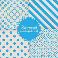 blue pattern background html restaurant or bistro theme blue stripes dots cutlery and other