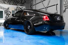 rolls royce blue interior murdered out rolls royce wraith keeps the party on the inside