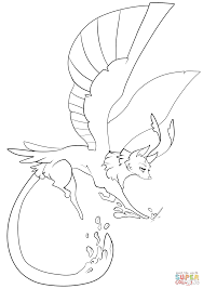 feathered fantasy wolf coloring page free printable coloring pages