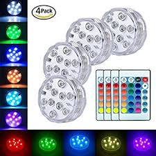 Waterproof Vase Lights Amazon Com Slbstores 10 Led Rgb Submersible Led Light Multi