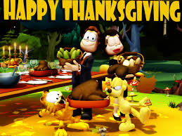 my free wallpapers wallpaper garfield thanksgiving