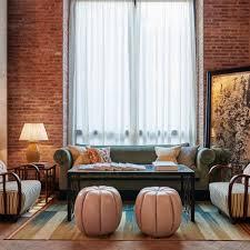 sofia footstool pink leather soho home