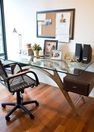 minimalist desk from maura loughney imports provides ample